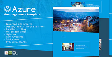 Azure - One Page Muse Template