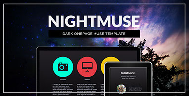 Nightmuse - One Page Muse Template