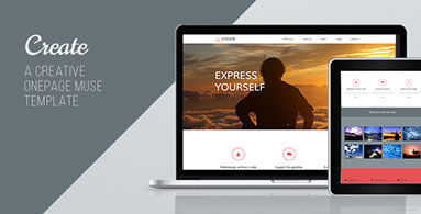 Create - One Page Muse Template