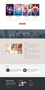 Flatstore - eCommerce Muse Template